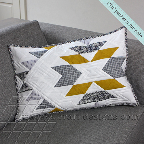 Geometric Aztec Cushion