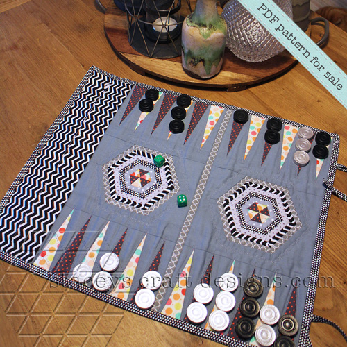 Quilted Backgammon Game