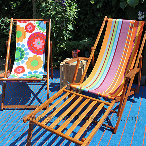 Beach Chair restoration by Staceys Craft Designs