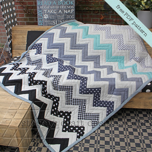 Chevron Quilt by Staceys Craft Designs
