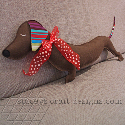 Felt Dachshund by Staceys Craft Designs