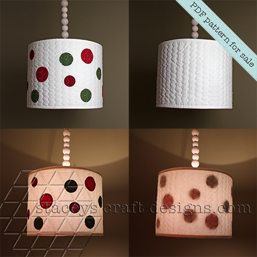Dots lamp shade cover PDF pattern by Staceys Craft Designs 2