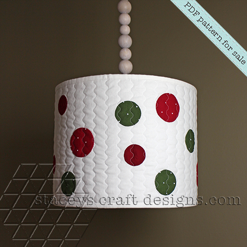 Dots lamp shade cover PDF pattern by Staceys Craft Designs