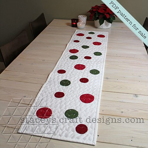 Dots table runner PDF pattern by Staceys Craft Designs