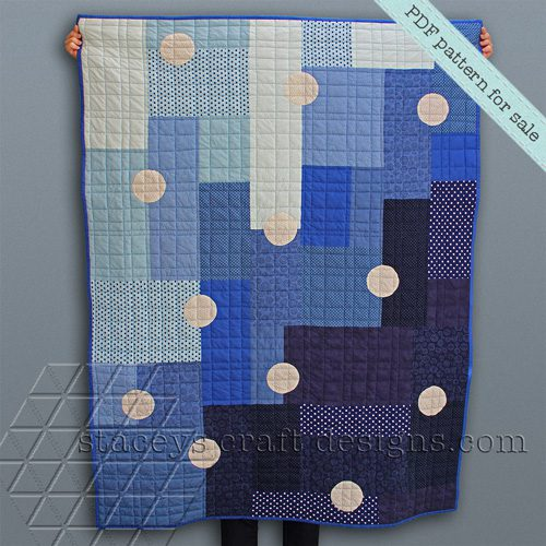 Dotted Rectangles Quilt PDF pattern by Staceys Craft Designs [2]