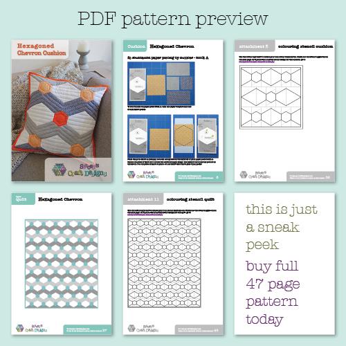 Hexagoned Chevron PDF pattern preview
