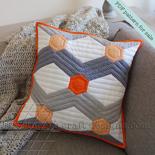 Hexagoned Chevron cushion PDF pattern by Staceys Craft Designs [2]