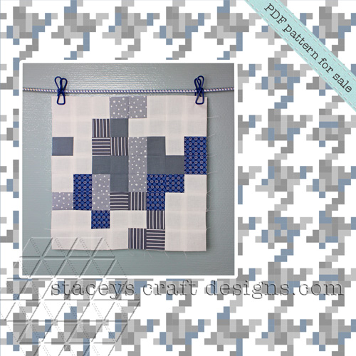 Simple Pixelated Hounds-tooth Quilt Block