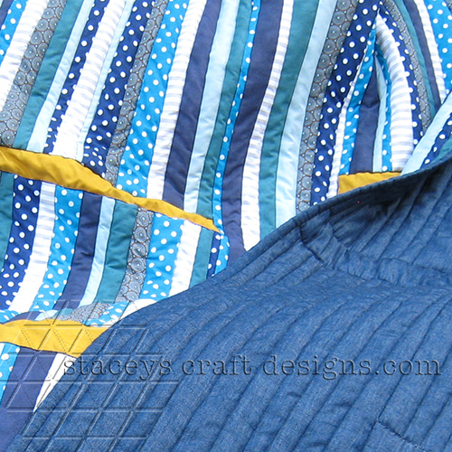 Islands in a stream pdf quilt pattern in blue and yellow by staceys craft designs