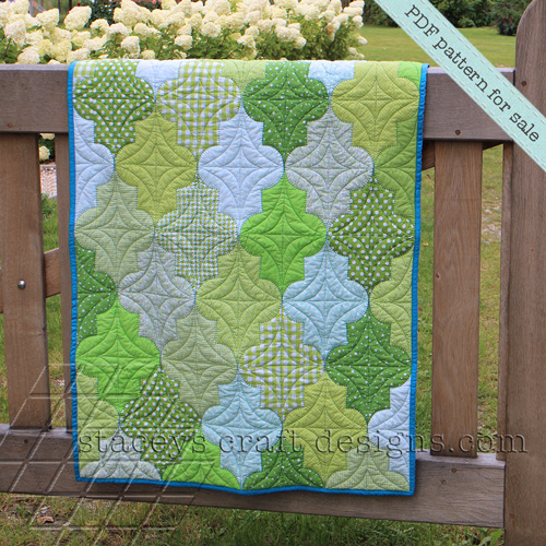 Breezy Moroccan Leaves Baby Quilt