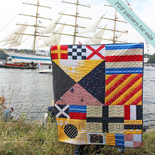 Ship ahoy, Nautical Flags Quilt