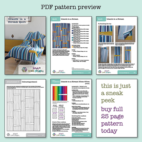 PDF pattern preview Islands in a Stream by Staceys Craft Designs