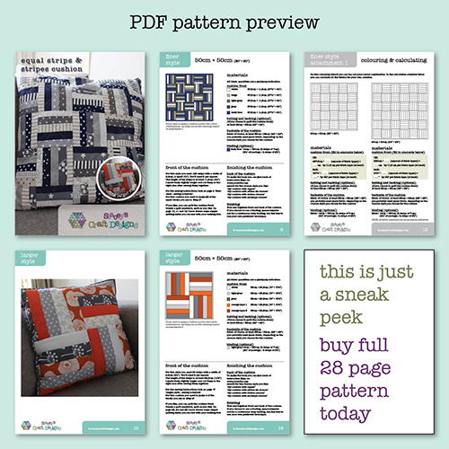 PDF preview equal strips and stripes cushion