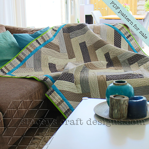 Parquet Quilt PDF pattern by Staceys Craft Designs 2
