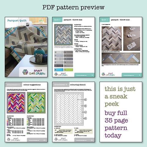 Parquet Quilt PDF preview
