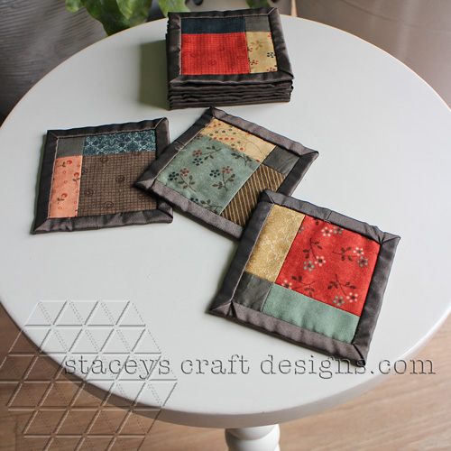 Patchwork coasters by Staceys Craft Designs