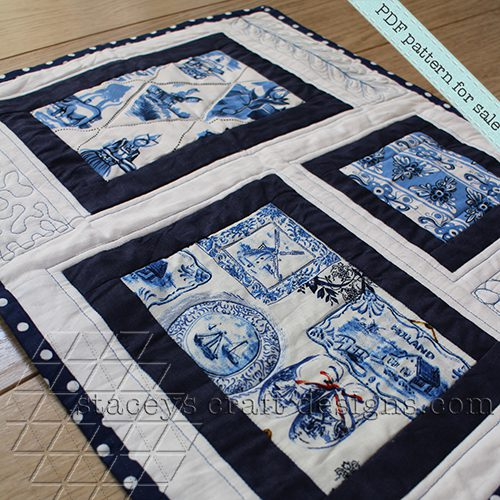 Picture Frame Placemat PDF pattern by Staceys Craft Designs