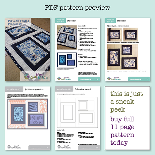 Picture Frame Placemat PDF preview