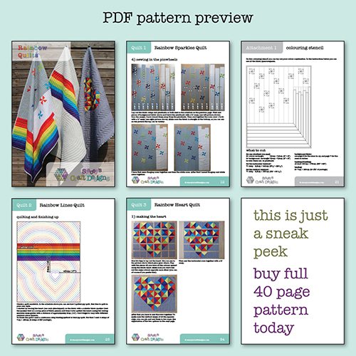 Rainbow Quilts PDF pattern preview