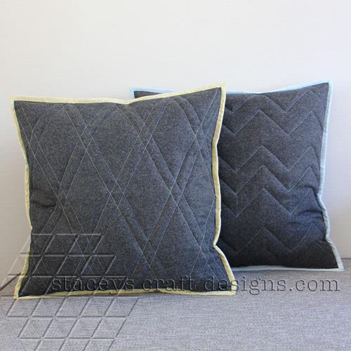 Simple quilted cushion covers