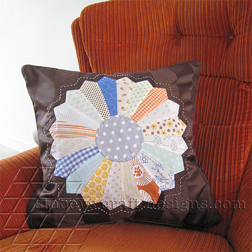 Staceys Craft Designs Dresden Cushion Brown