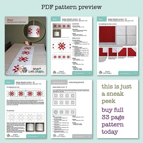 Star PDF pattern preview