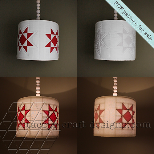 Star lamp shade cover PDF pattern by Staceys Craft Designs 2
