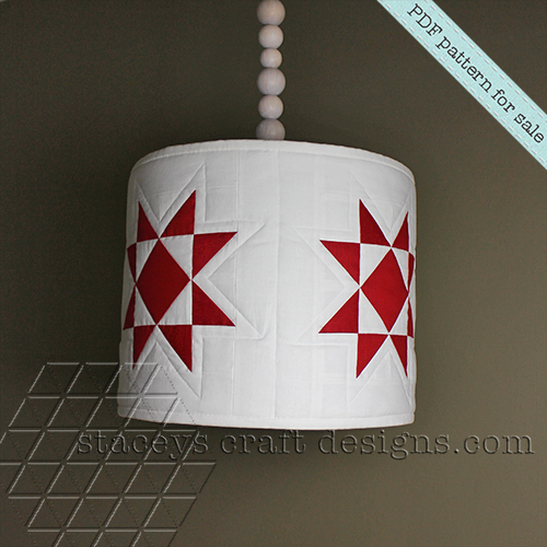 Star lamp shade cover PDF pattern by Staceys Craft Designs
