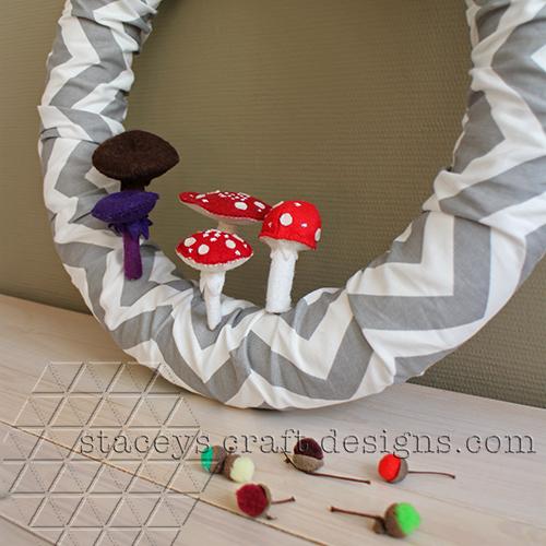 felt mushrooms by Staceys Craft Designs