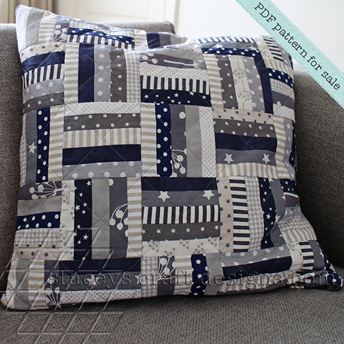 finer style_equal strips and stripes cushion by staceys craft designs