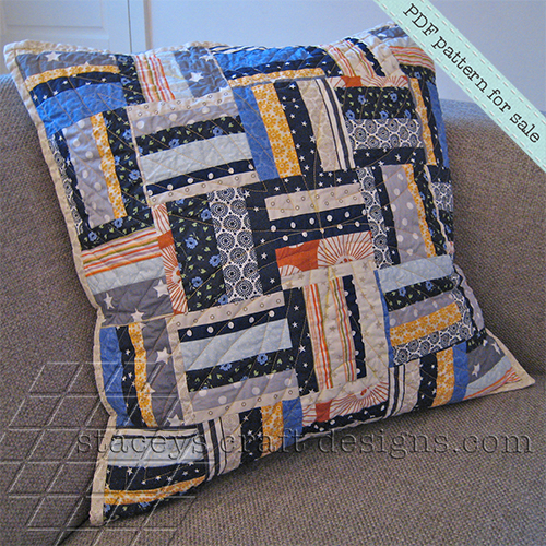 finer style_random strips and stripes cushion by staceys craft designs