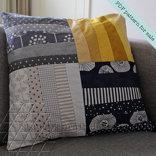 larger style_slanting strips and stripes cushion by staceys craft designs