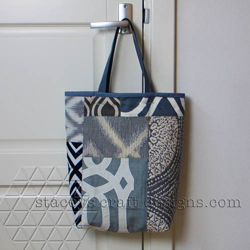 patchwork tote bag back