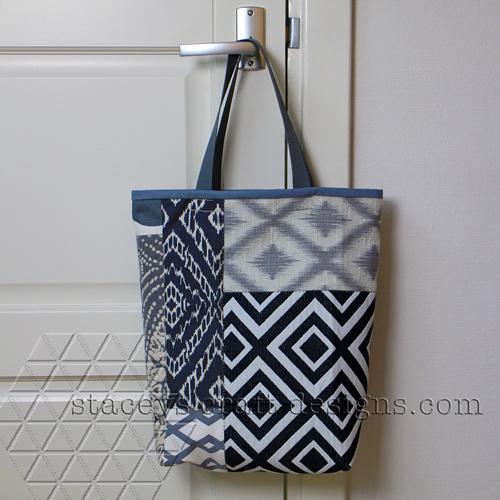 patchwork tote bag front