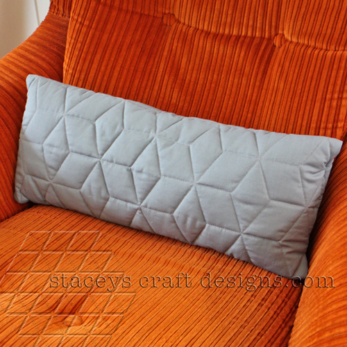 slim grey cushion by Staceys Craft Designs